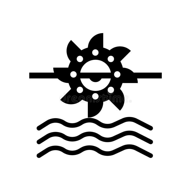 Vector hidráulico del icono del poder aislado en el fondo blanco, muestra hidráulica del poder, símbolos del eco stock de ilustración
