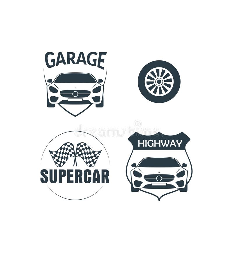 Vector of Highway Garage Logo. Is a good logo design for club or business vector illustration