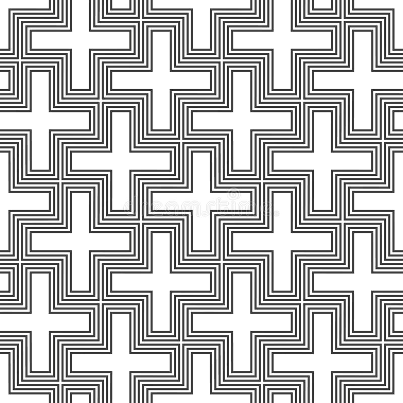 Vector hinduism swastika ornament pattern royalty free illustration