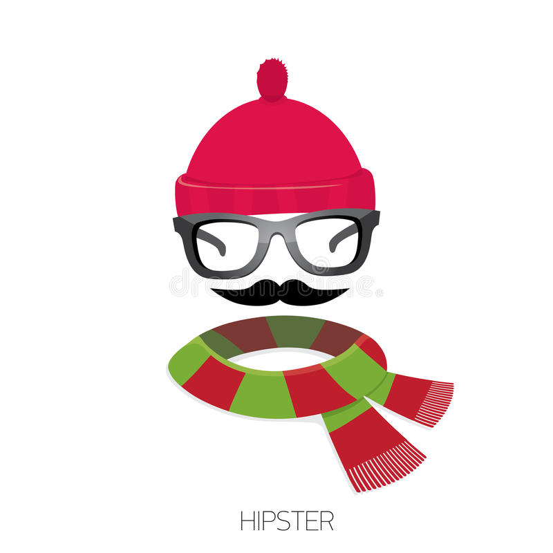 Vector Hipster Icon Hipster Fashion Silhouette Stock