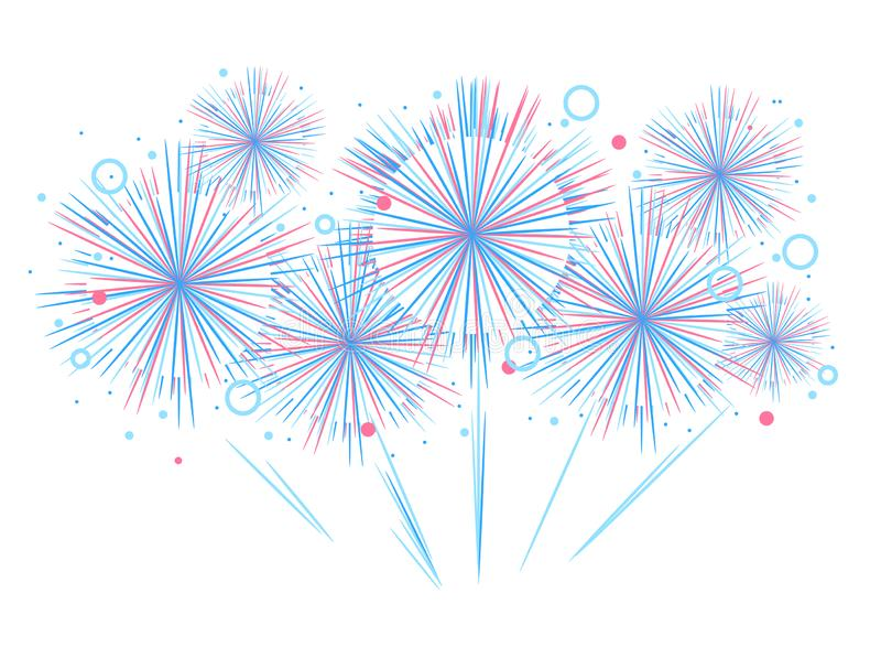Vector holiday firework. Independence day of America. Vector holiday festival firework. Independence day of America vector illustration