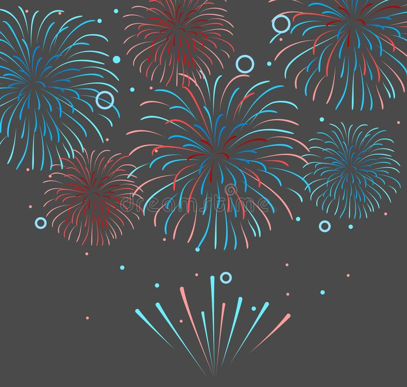 Vector holiday firework. Independence day of America. Vector holiday festival firework. Independence day of America stock illustration