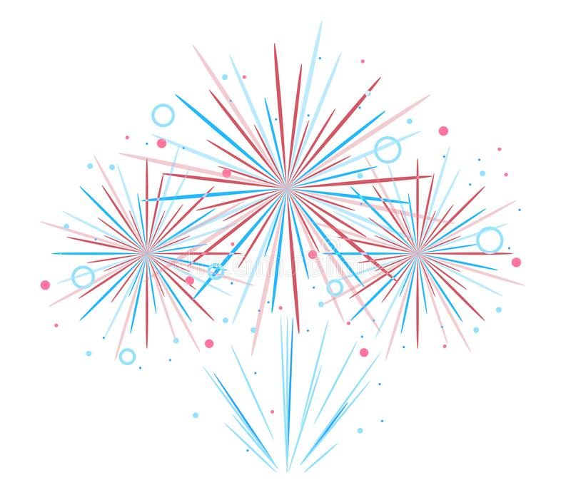 Vector holiday firework. Independence day of America. Vector holiday festival firework. Independence day of America royalty free illustration