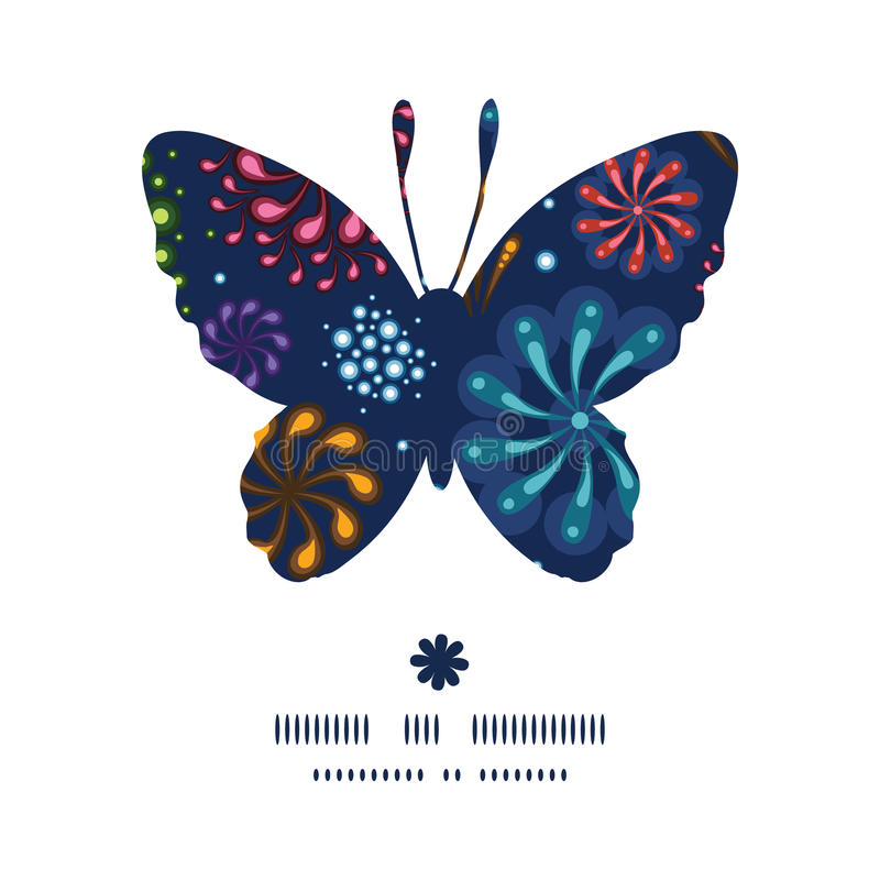 Free Vector Holiday Fireworks Butterfly Silhouette Royalty Free Stock Photo - 48116105