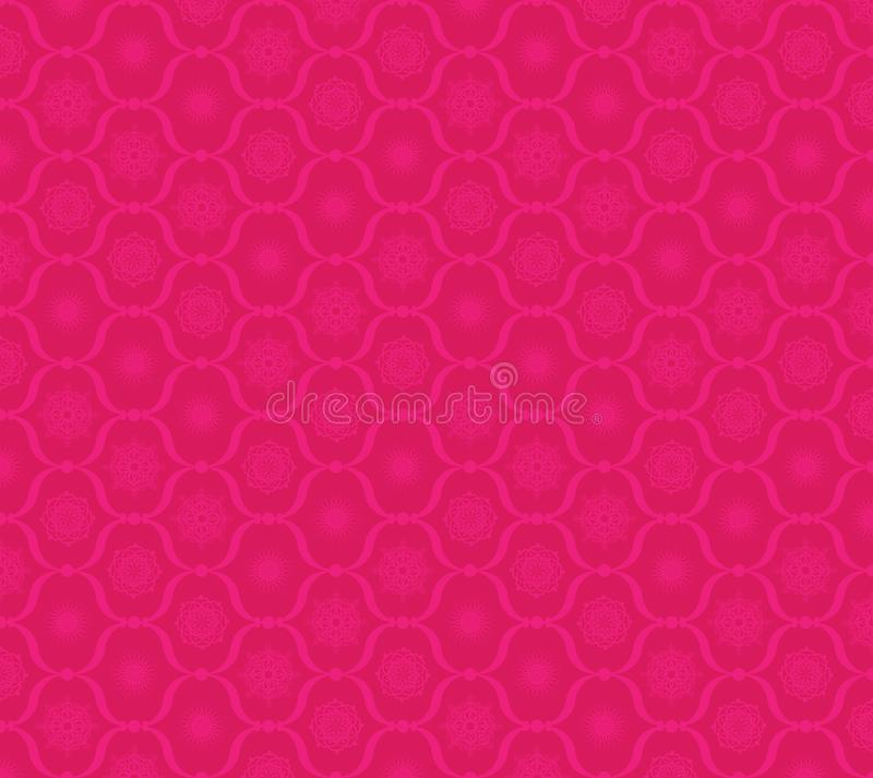 Vector holiday snowflakes on pink background stock illustration