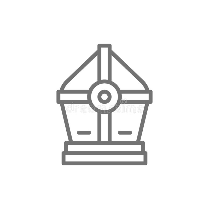 Holy Pope hat line icon. royalty free illustration