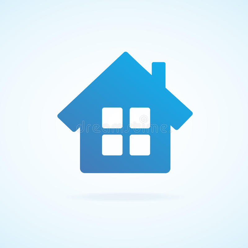 Vector home icon royalty free illustration