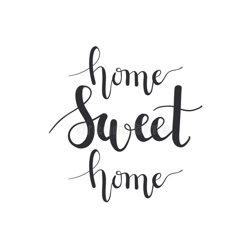 Vector Home Sweet Home Calligraphy Imitation. Hand-written Warm ...