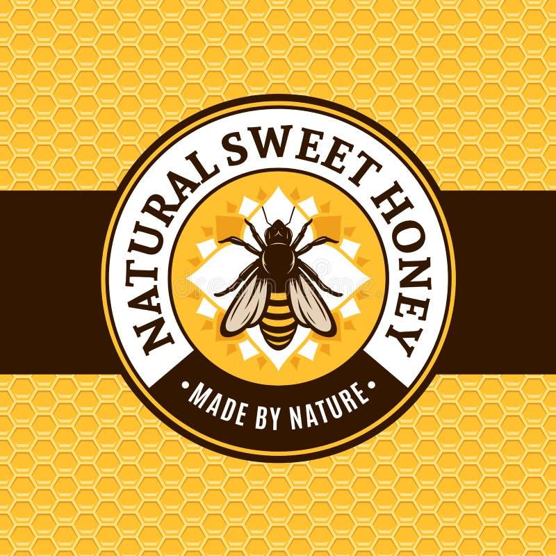Vector honey logo vector illustration