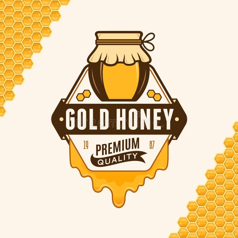Vector honey logo stock illustration