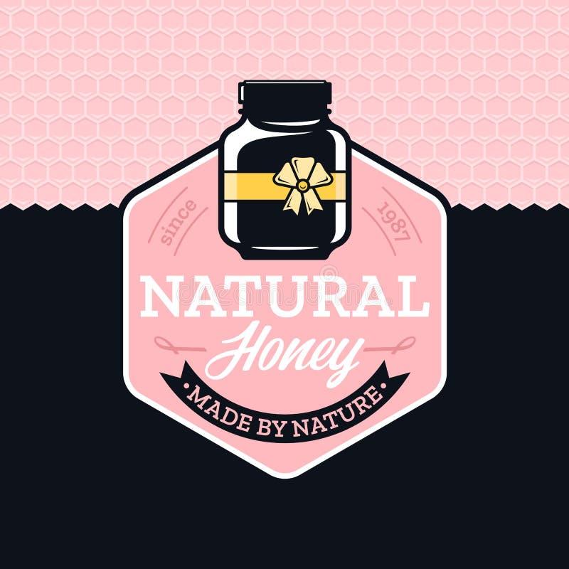 Vector honey logo royalty free illustration