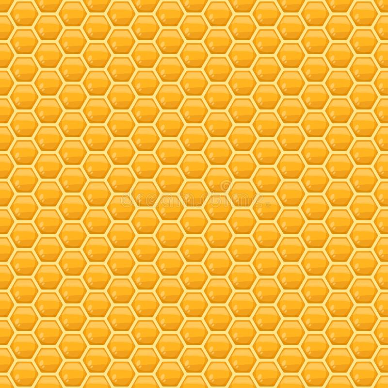 Vector honeycomb seamless pattern. Or background for honey product packaging, branding and identity vector illustration