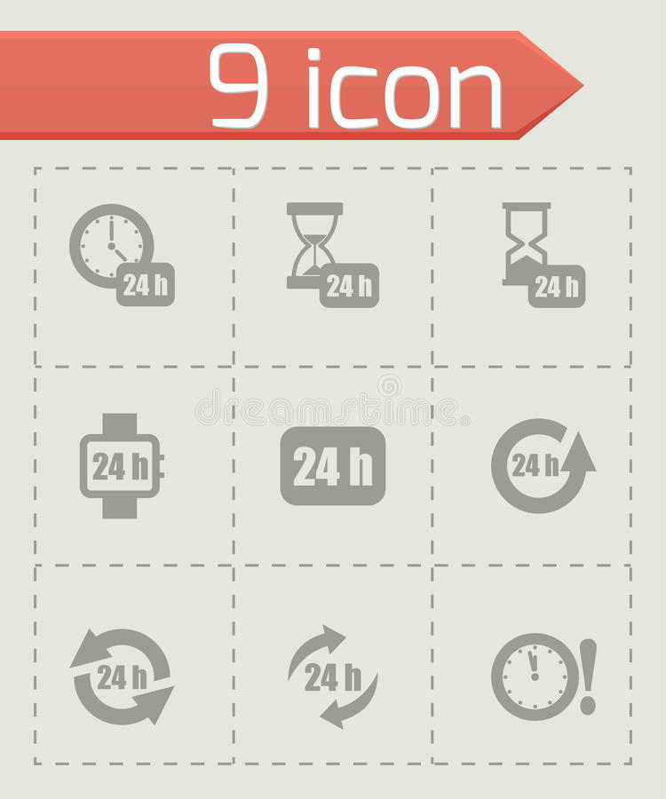Vector 24 horas de sistema del icono libre illustration