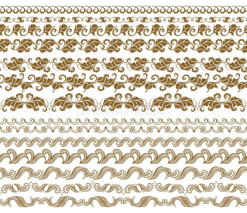 Vector horizontal de la decoración de los elementos libre illustration