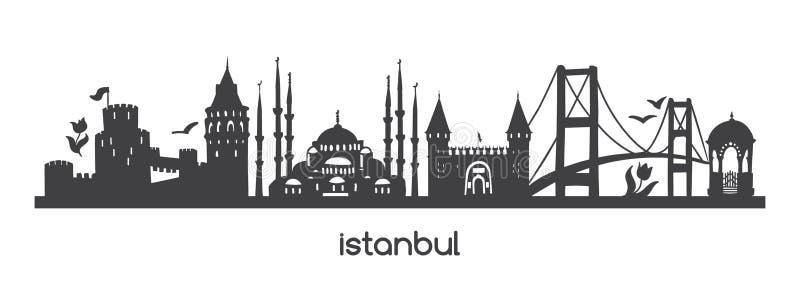 Vector horizontale illustratie Istanboel vector illustratie