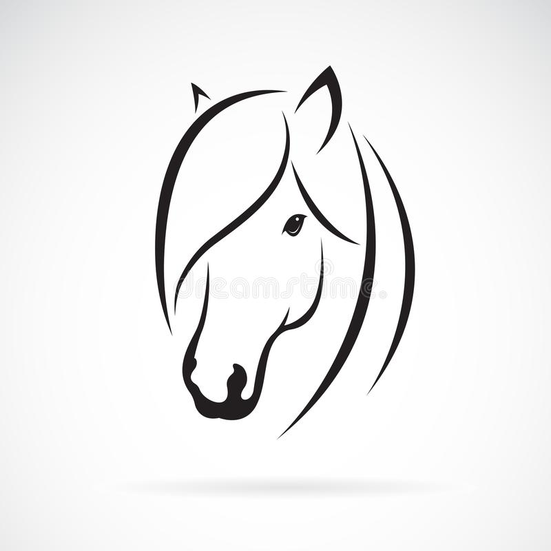 Vector of horse head design on white background. Animal. Horse s royalty free illustration