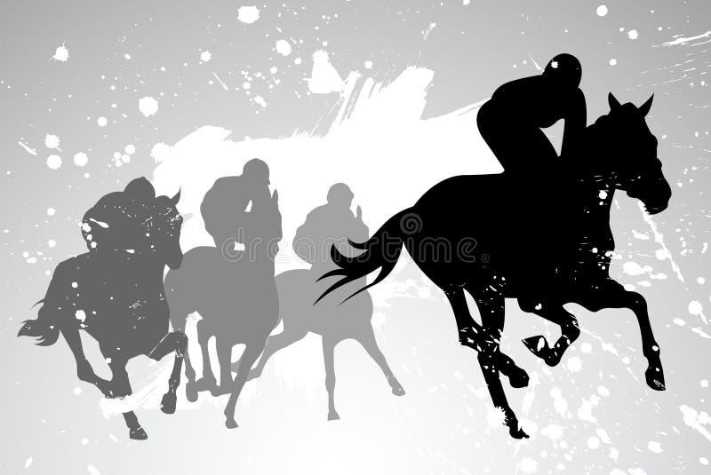 Vector horse races stock illustration