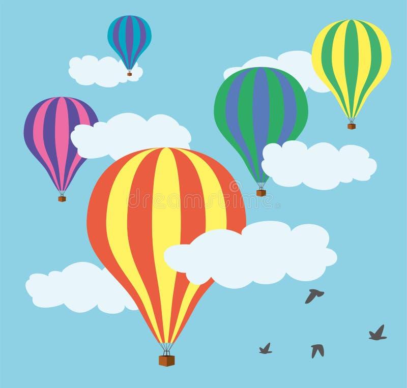 Free Vector Hot Air Balloons Stock Photos - 33993963
