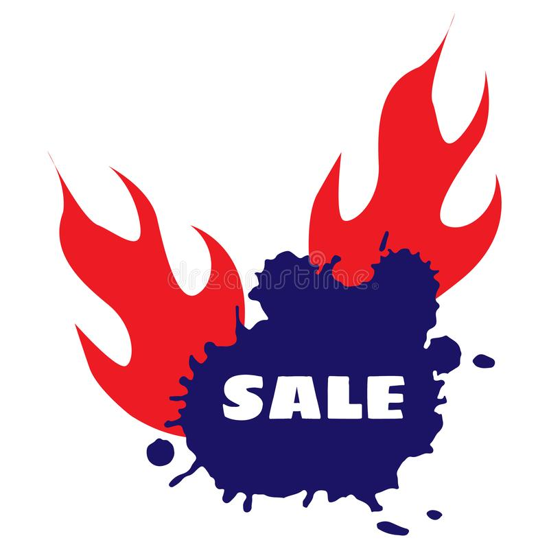 Vector. Hot Sale Discount Vector Template Design royalty free illustration