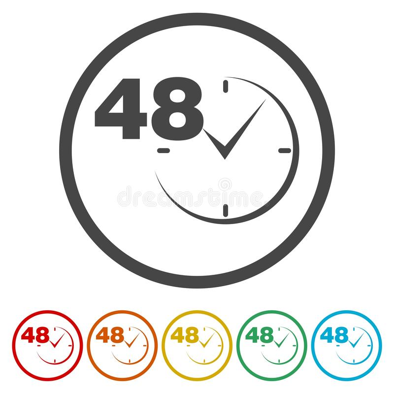 Vector 48 hours. Vector icon stock illustration