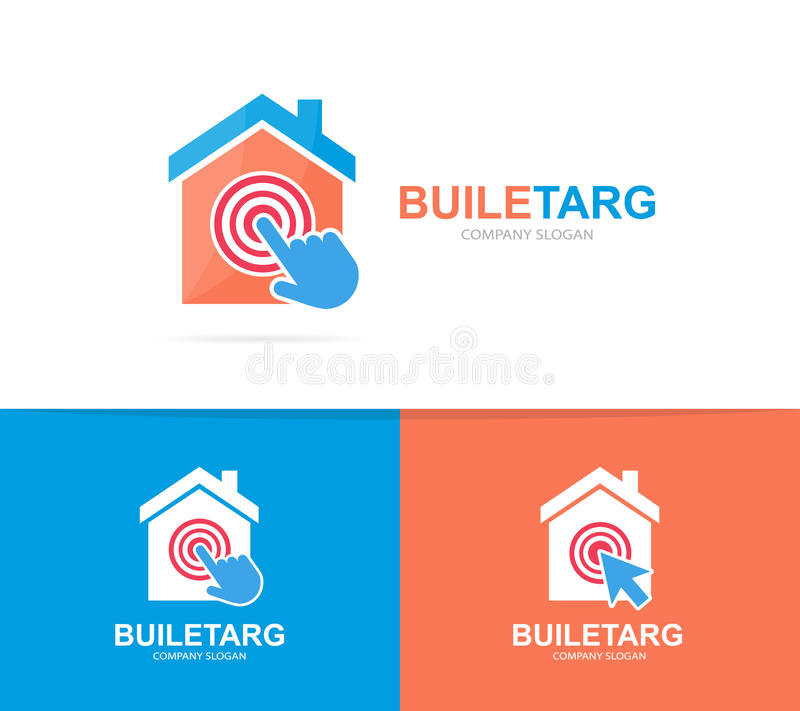 Apartment Rental Agency: House In Hand Logo Or Icon Stock Vector. Illustration Of