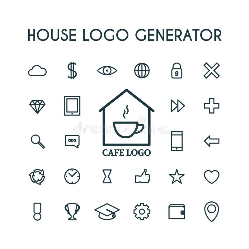Vector House Logo Generator Stock Vector - Illustration of ...