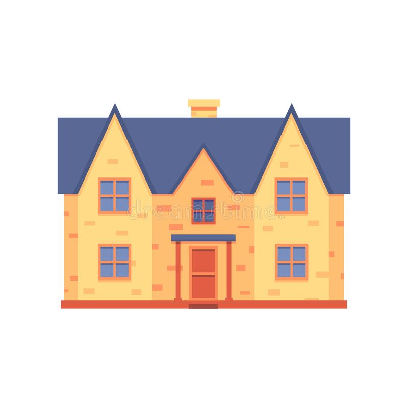 Vector house renovation after repair work icon vector illustration