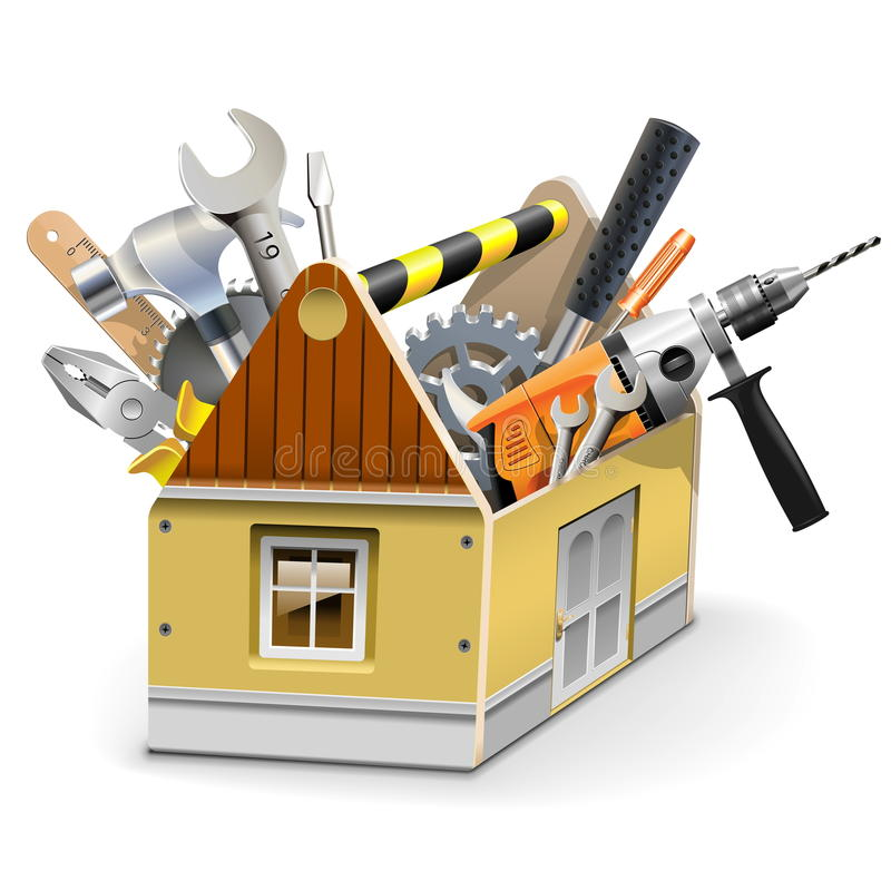 Vector House Toolbox stock illustration