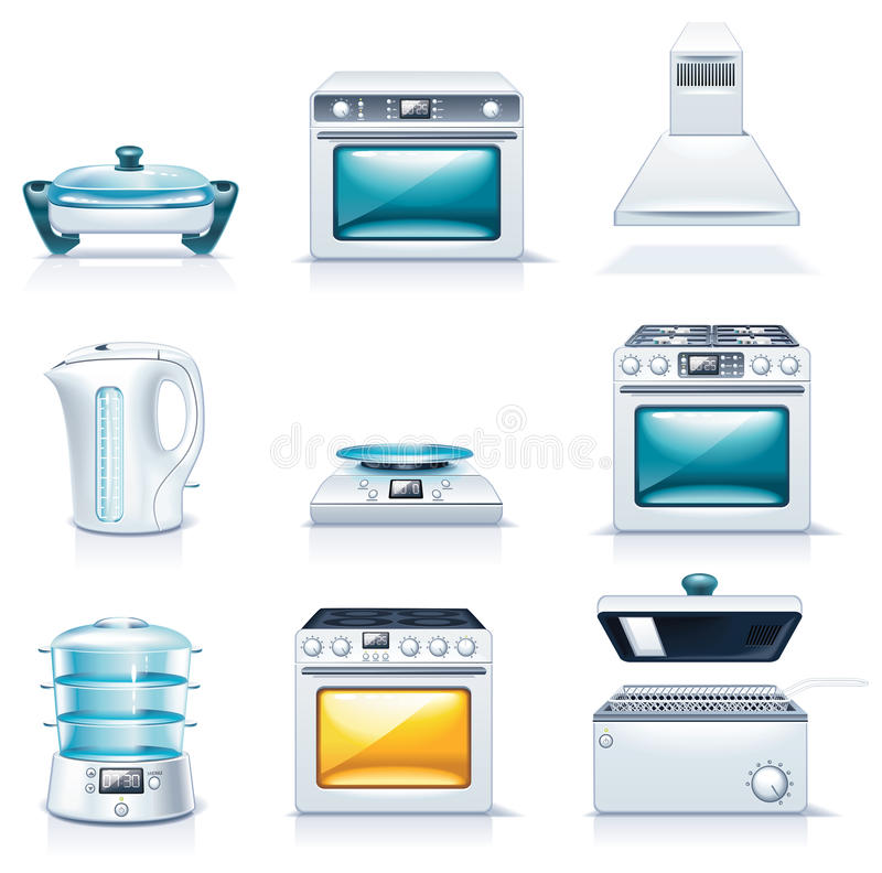 Vector Household Appliances Icons. Part 2 Royalty Free Stock Photo