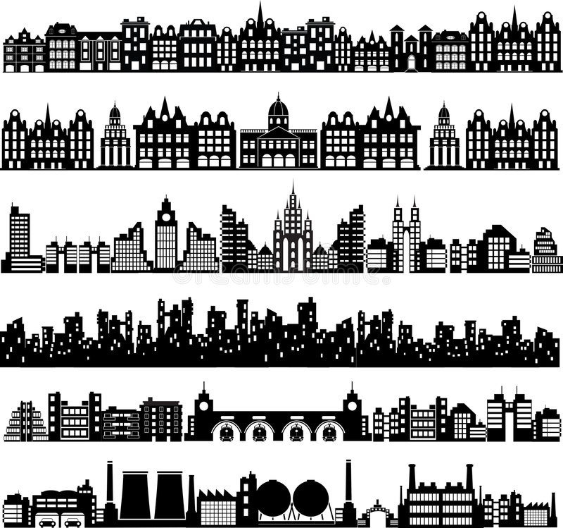 Vector houses stock image