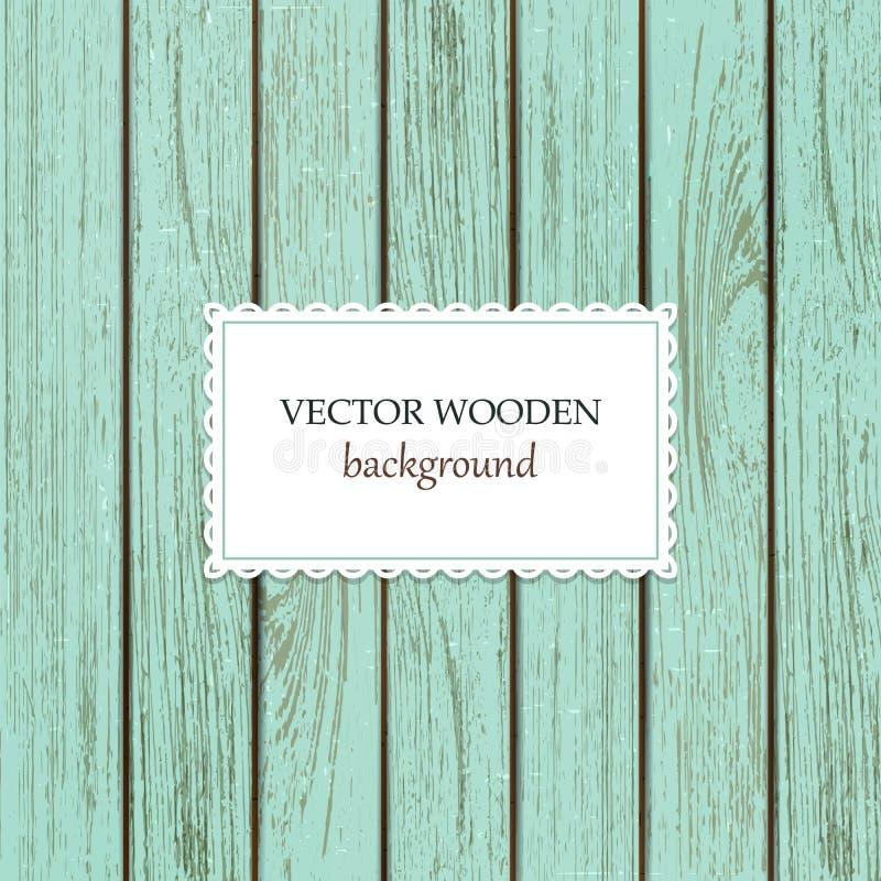 Vector houten achtergrond voor spot op ontwerp stock illustratie