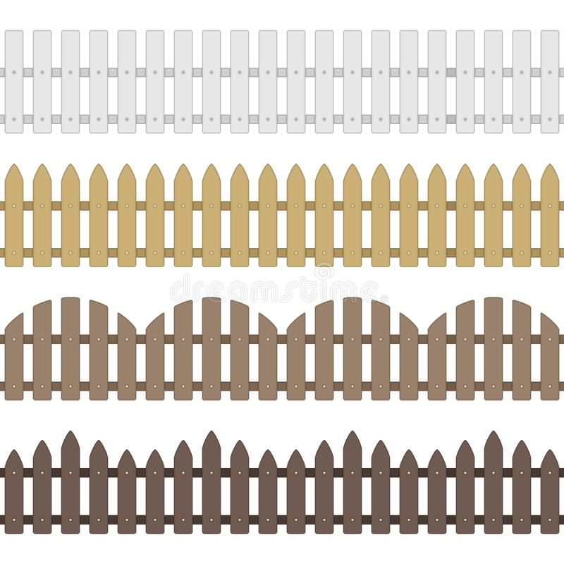 Vector houten omheining stock illustratie