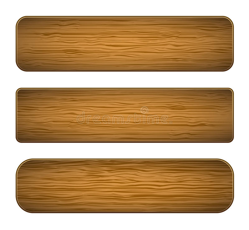 Vector houten planken royalty-vrije illustratie
