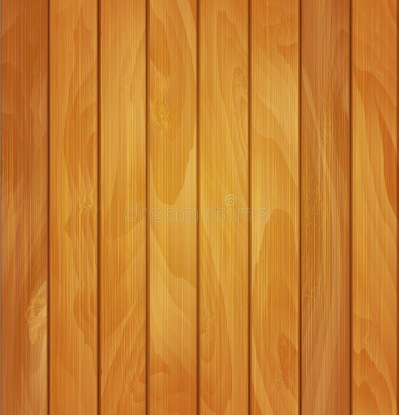 Vector houten textuur als achtergrond van lichtbruine houten planken vector illustratie