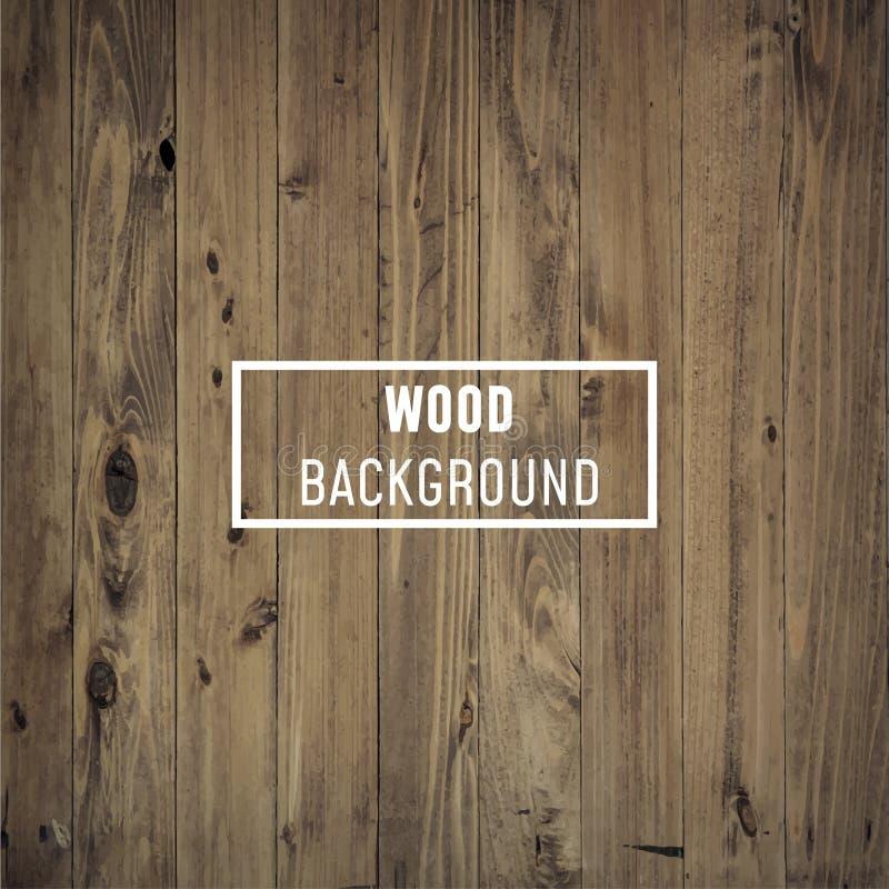 Vector houten textuur oude panelen als achtergrond stock illustratie
