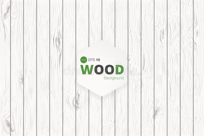 Vector houten textuur oude panelen als achtergrond Grunge retro uitstekende houten textuur, achtergrond stock illustratie