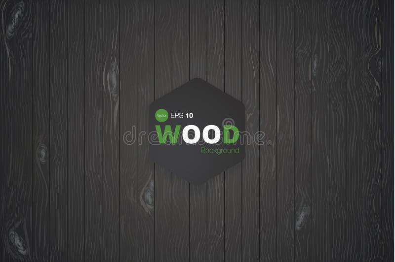 Vector houten textuur oude panelen als achtergrond Grunge retro uitstekende houten textuur, vectorachtergrond vector illustratie