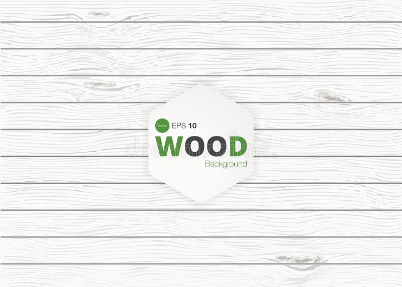 Vector houten textuur oude panelen als achtergrond Grunge retro uitstekende houten textuur, vectorachtergrond royalty-vrije illustratie