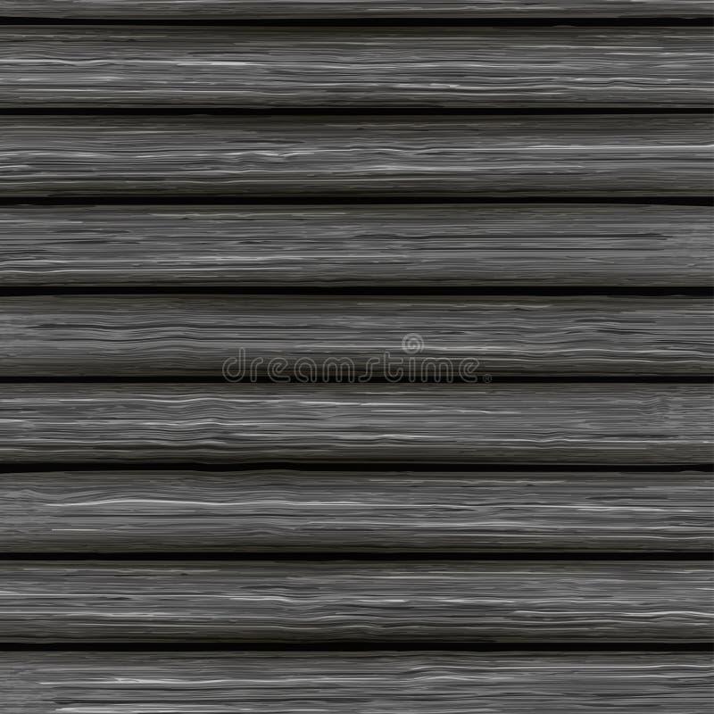Vector houten textuur van oude grijze raad stock illustratie