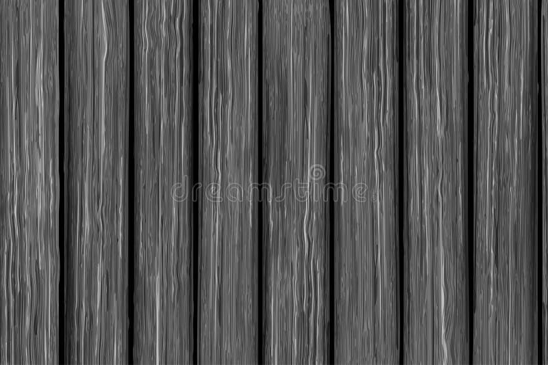 Vector houten textuur van oude grijze raad royalty-vrije illustratie