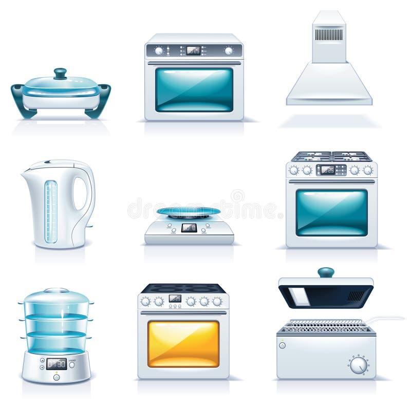 Vector huishoudapparatenpictogrammen. Deel 2 vector illustratie