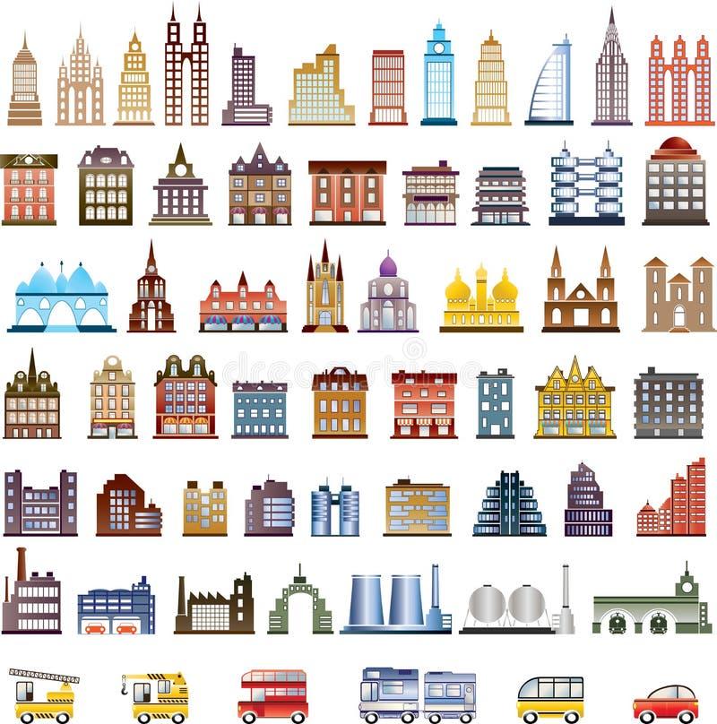 Vector huizen vector illustratie