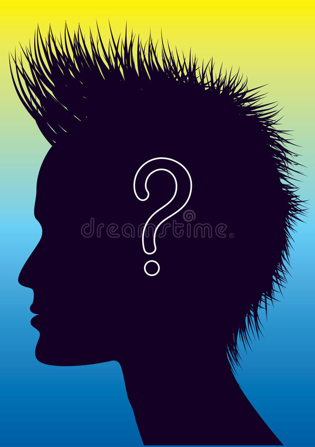 Download Vector Human Head With Question Mark. Stock Vector - Illustration: 19196546