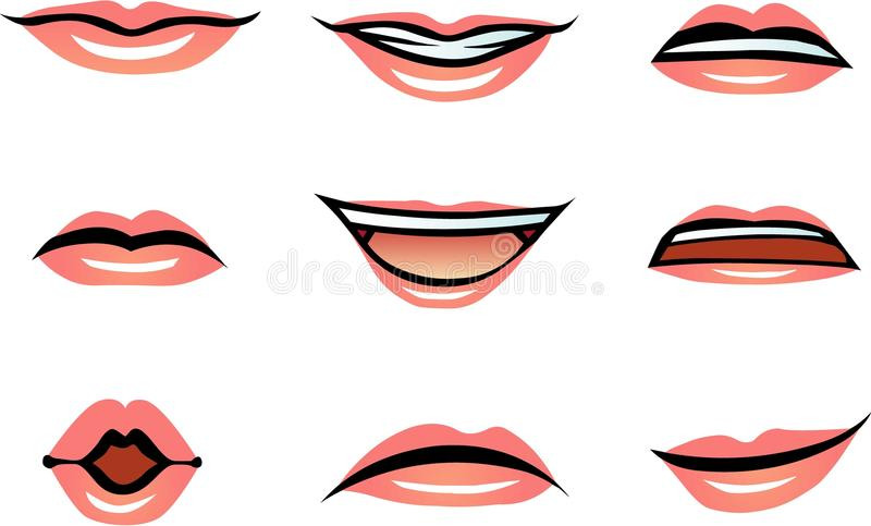Vector Human Lips Female Stock Vector Illustration Of