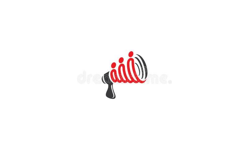 Vector humano del icono del logotipo de la opinión del megáfono libre illustration