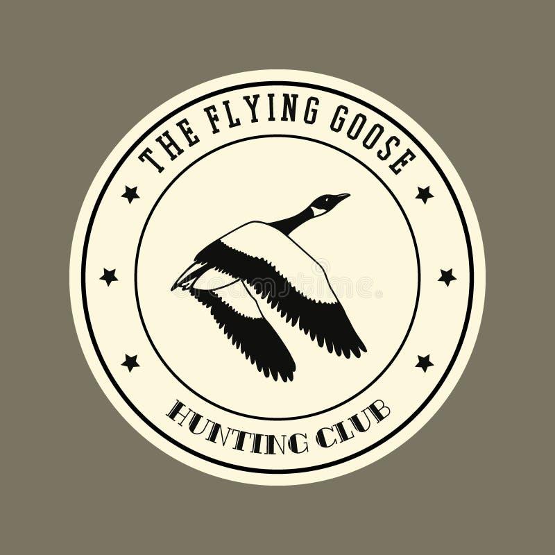 Hand drawn goose emblem royalty free illustration