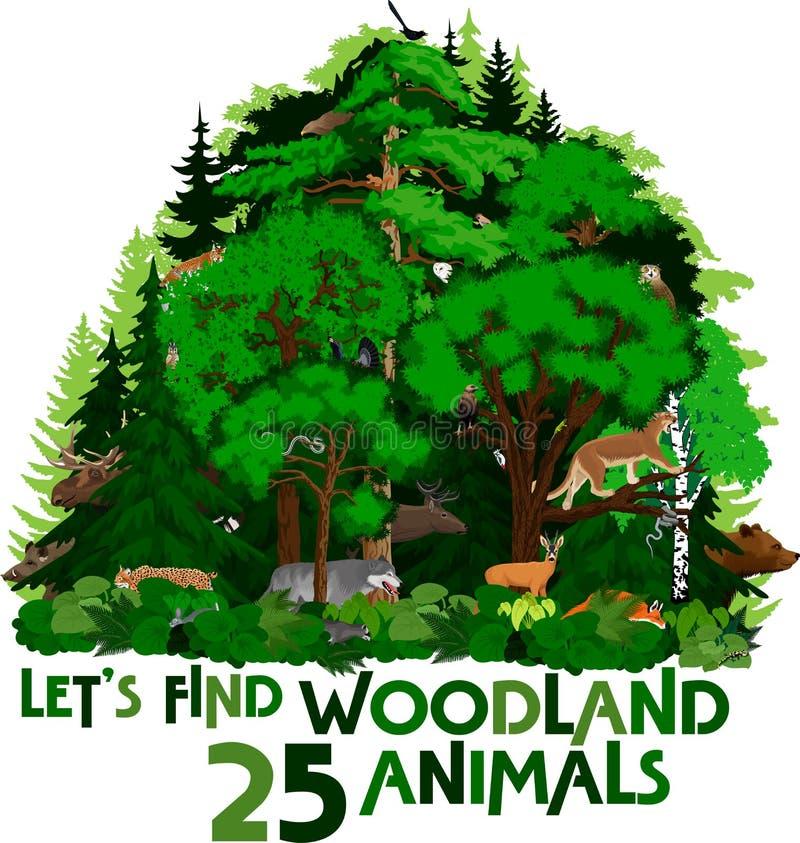 Vector hunting woodland emblem with  raindeer. Llustration vector illustration