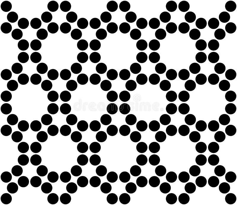 Vector i cerchi sacri senza cuciture moderni del modello della geometria, estratto in bianco e nero illustrazione di stock