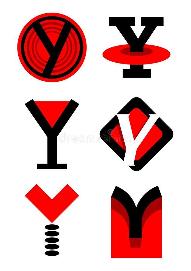 Vector i marchi e le icone di alfabeto Y royalty illustrazione gratis