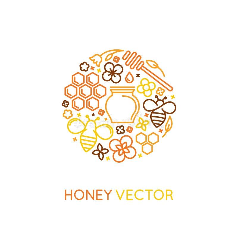 Vector i modelli di progettazione di imballaggio e di logo in styl lineare d'avanguardia illustrazione vettoriale
